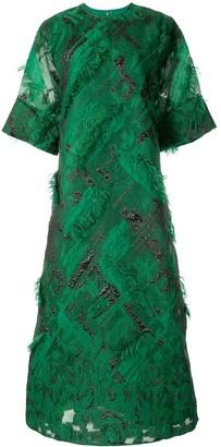 Bambah Rosa fringed kaftan dress