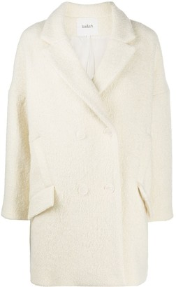 BA&SH Charly double-breasted marled coat