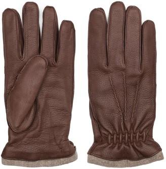 Dalgado Handmade Deer Leather Gloves Brown Carlo