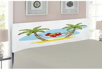East Urban Home Beach Upholstered Panel Headboard Size: Queen