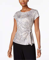 MSK Embellished Side-Tie Blouse