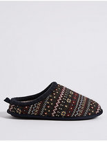 M&S Collection Fairisle Mule Slippers with FreshfeetTM