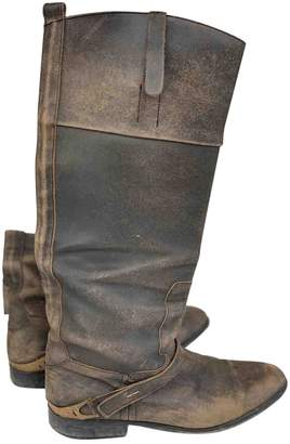 Golden Goose \N Brown Patent leather Boots