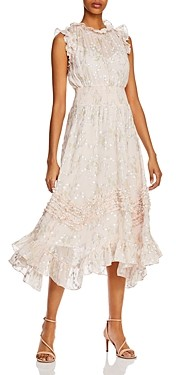 Rebecca Taylor Ruffled Smocked Dress