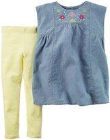 Carter's 2 Piece Playwear Set (Toddler/Kid) - Denim - 5T