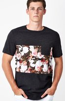 On The Byas Floral Panel Pocket T-Shirt