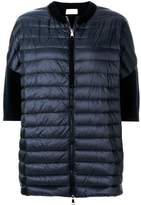 Moncler short sleeve padded front cardigan