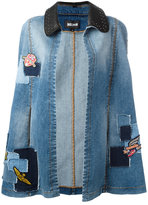 Just Cavalli denim patchwork cape