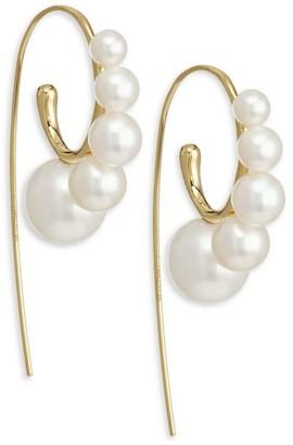 Ippolita Nova 18K Yellow Gold & Pearl Curved Ear Wire Earrings