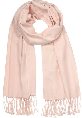 Forzieri Blossom Pink Silk and Pashmina Shawl