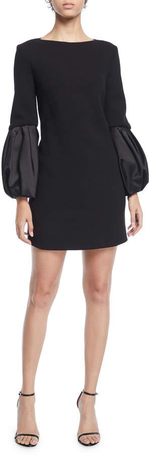 Michael Kors Duchess-Sleeve Boucle Shift Dress