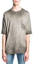 Saint Laurent Washed Out Surf Fit T-Shirt, Gray
