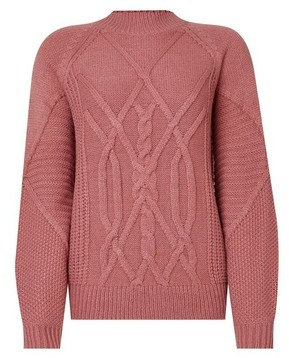 Dorothy Perkins Womens Rose Cable High Neck Jumper