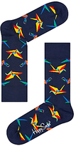 Happy Socks Origami Socks, One Size, Navy