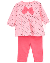 Bon Bebe Pink Polka Dot Bow Babydoll Top & Leggings