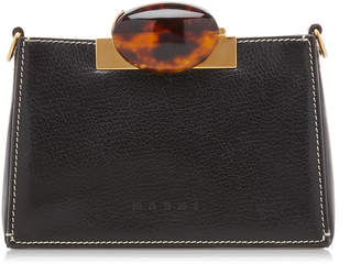 Marni Galet Embellished Textured-Leather Clutch
