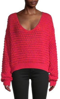 Free People Coconut Loose-Weave Sweater
