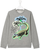 Stella McCartney croco beach print Billy sweatshirt - kids - Cotton - 14 yrs