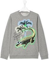 Stella McCartney croco beach print Billy sweatshirt