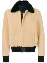 Saint Laurent constast collar shearling jacket