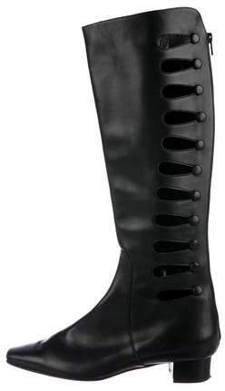 Manolo Blahnik Cutout Knee-High Boots