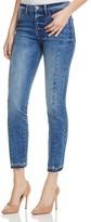 Warp and Weft CDG Cigarette Released Hem Ankle Jeans in Dark Blue