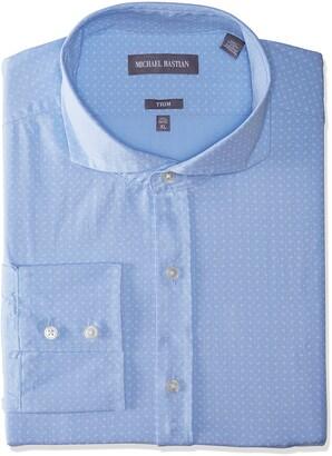 Michael Bastian Men's Slim Fit Spread Collar Dress Shirt