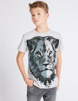 Marks and Spencer Cotton Rich Lion T-Shirt (3-14 Years)