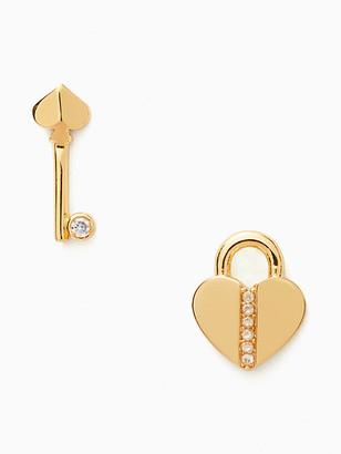 Kate Spade Lock And Spade Pave Lock Studs