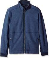 Nautica Men's Long Sleeve Zip Front Mockneck Sweatshirt