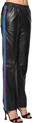 Stand Alva Wide Leg Leather Pants W/side Bands