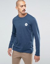 Converse Chuck Patch Longsleeved T-shirt In Blue 10002856-a02
