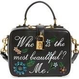Dolce & Gabbana 'Small - Most Beautiful' Crystal Flower Embellished Leather Handbag