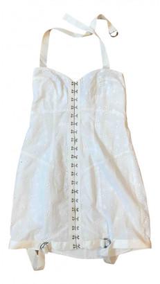 For Love & Lemons White Cotton Dresses