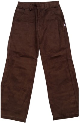 Ungaro Brown Cotton Trousers