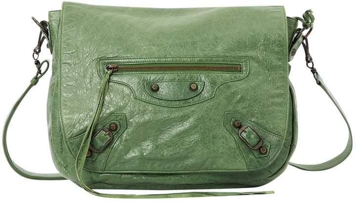 Balenciaga Green Leather Handbag