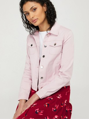 Monsoon Elda Organic Cotton Denim Jacket - Lilac