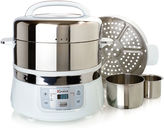 Euro Cuisine Euro-Cuisine Stainless Steel 2-Tier Electric Food Steamer
