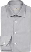Canali Hopsack regular-fit cotton shirt