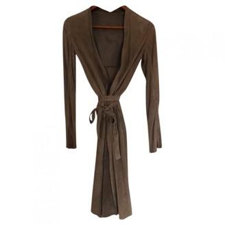 Rick Owens Camel Suede Coats
