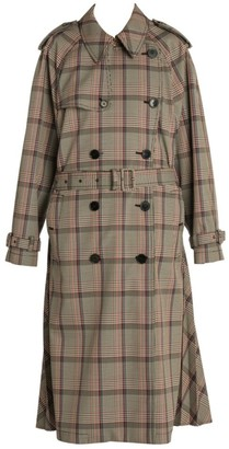 Stella McCartney Prince Of Wales Japanese Check Trench Coat