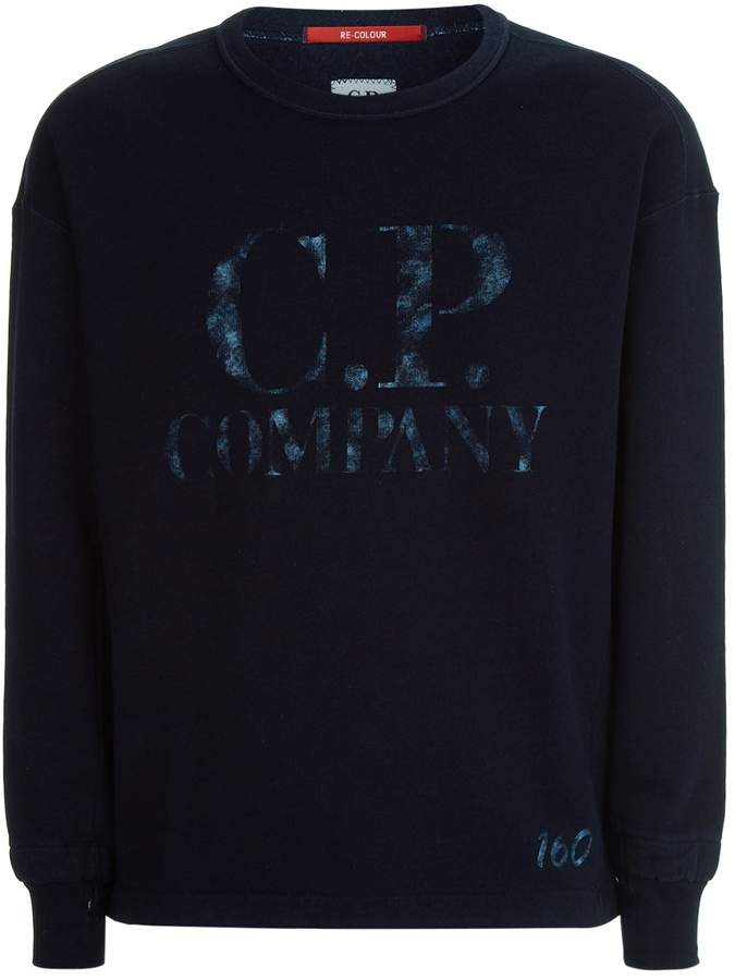 C.P. Company Tie Dye Logo Sweater