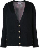 Thom Browne cashmere rear crab patch cardigan - women - Silk/Cashmere - 40