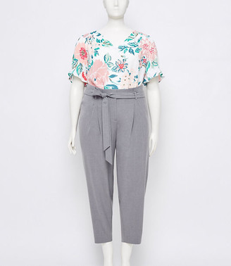 LOFT Plus Tie Waist Slim Pants