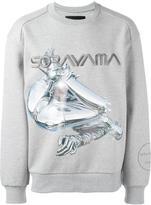 Juun.J embroidered printed oversized sweatshirt