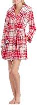 Betsey Johnson Plaid Plush Robe