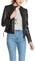Redskins Women's Leather Long Sleeve Jacket - Black -