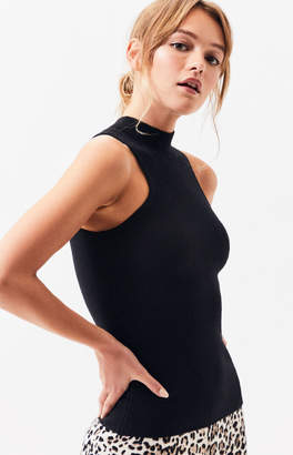 Lucca Couture Ava Turtleneck Sleeveless Sweater