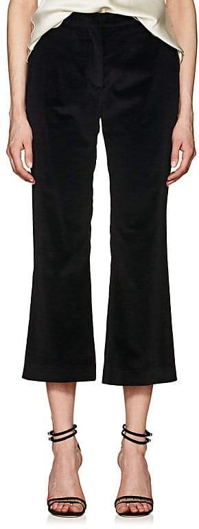 Altuzarra WOMEN'S NETTLE VELVET CROP FLARED TROUSERS