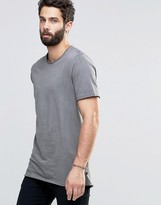 ONLY & SONS Raw Edge Crew Neck with Oil Wash Detail